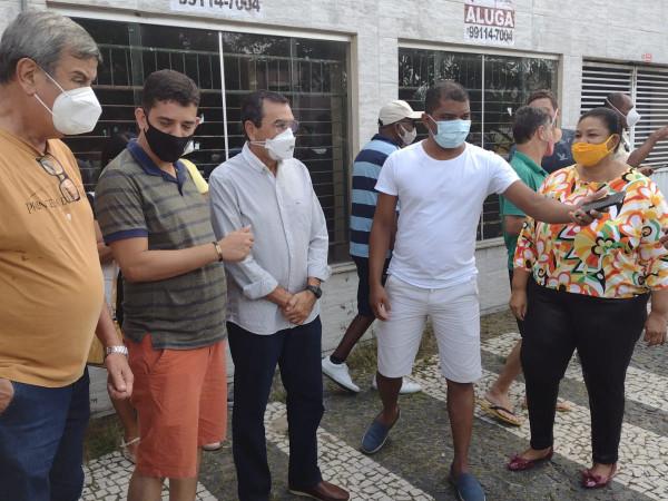 Colbert e Fernando de Fabinho juntos nas homenagens pelos 70 anos de José Ronaldo