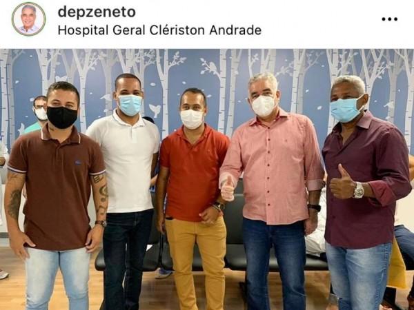 Gabinete de Zé Neto convidou vereador para solenidade no Clériston Andrade