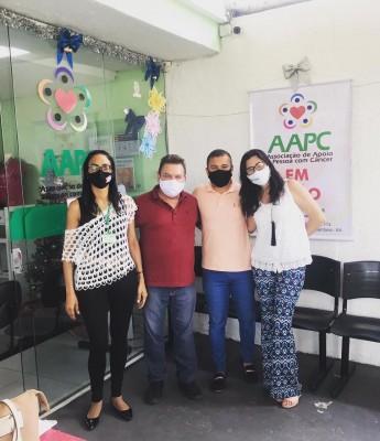 Vereador Galeguinho SPA doa todo salário para a Associação de Apoio à Pessoa com Câncer